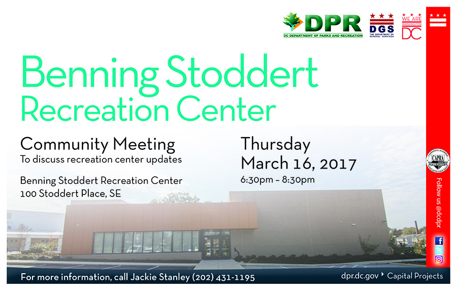 Benning Stoddert Recreation Center Community Meeting (March 2017)