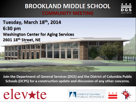 Brookland Middle School Community Meeting (Tues March 18, 2014)