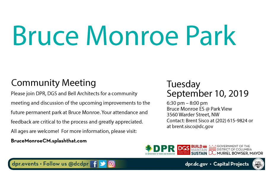 Bruce Monroe Park Community Meeting