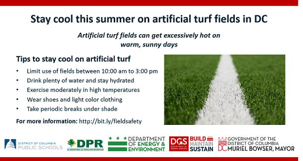 Stay cool this summer on artificial turf fields in DC