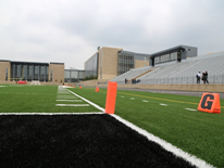 Dunbar High School's New Stadium and Athletic Field viewed from the Goal Line