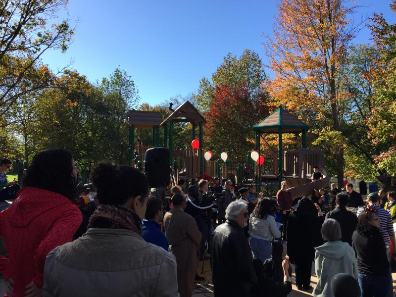 Forest Hills Playground Ribbon Cutting