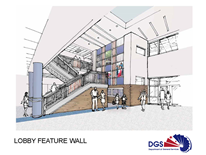 Hearst Elementary School Architects Rendering -  Lobby Feature Wall