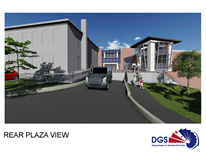 Hearst Elementary School Architects Rendering - Rear Plaza View