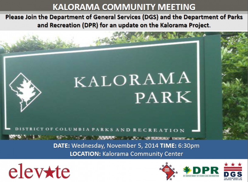 Kalorama Park Project Community Meeting November 5, 2014 (Accessible version available, below)