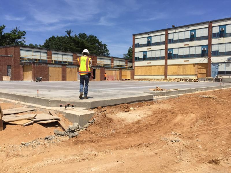 Poured Concrete Slab for New Gym