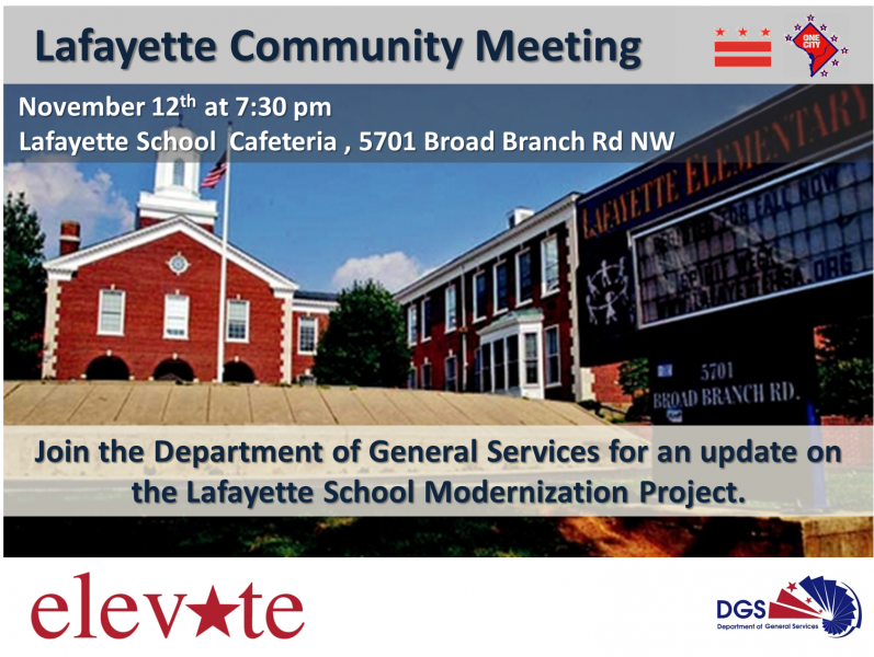 Lafayette School Modernization Project Community Meeting November 3, 2014