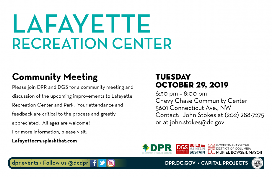 Lafayette Recreation Center Community Meeting-October 29, 2019