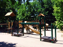 Mitchell Park Play DC Playground - image of new play space equipment (8-26-14)