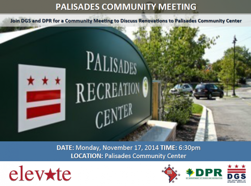 Palisades Recreation Center Community Meeting November 17, 2014 at 6:30 pm (Download an accessible version, below)