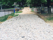 Rose Park Playground Demolition Image 1 - gravel pathway (8-26-14)
