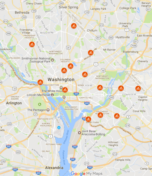 DGS Bicycle Repair Station Program - Interactive Map