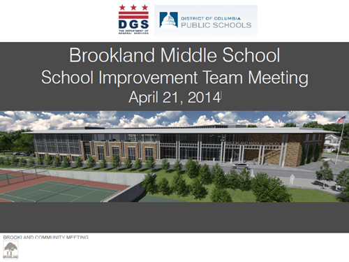 Brookland Middle School SIT Meeting 4-21-14 coverpage