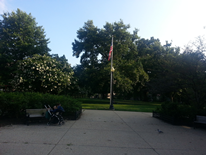 Kalorama Park pathway and flagpole (current view)