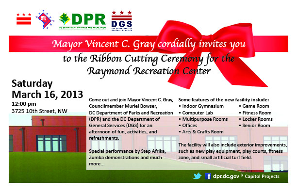 Raymond Recreation Center Ribbon Cutting Ceremony