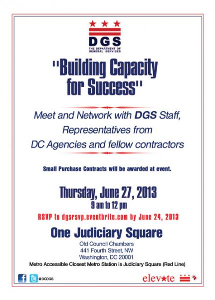 Building Capacity for Success flyer