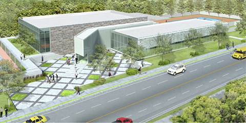 Rendering of the Ridge Road Community Center