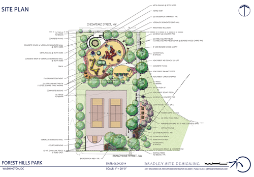 Forest Hills Play DC Playground Site Plan Rendering - Updated June 13, 2014