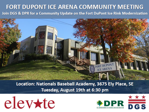 Fort Dupont Ice Arena Community Meeting August 19, 2014 at 6:30 pm (Accessible version available, below)