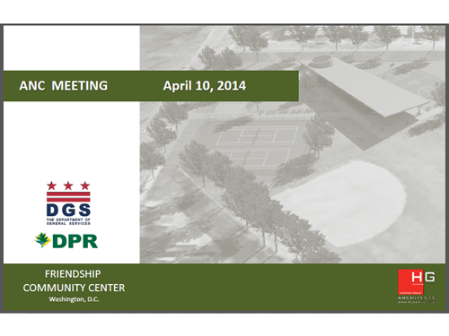 Friendship Park Presentation at the ANC 3E Meeting 4-10-14 - Coverpage