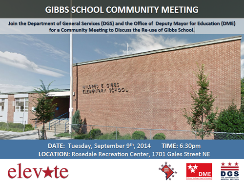 Gibbs Elementary School Re-Use Community Meeting September 9, 2014 at 6:30 pm (Download an accessible version, below)