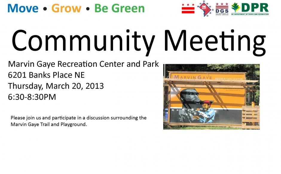 Marvin Gaye Park Community Meeting (Thurs March 20, 2014)