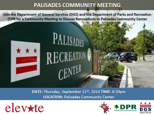 Palisades Recreation Center Community Meeting September 11, 2014 at 6:30 pm (Download an accessible version, below)
