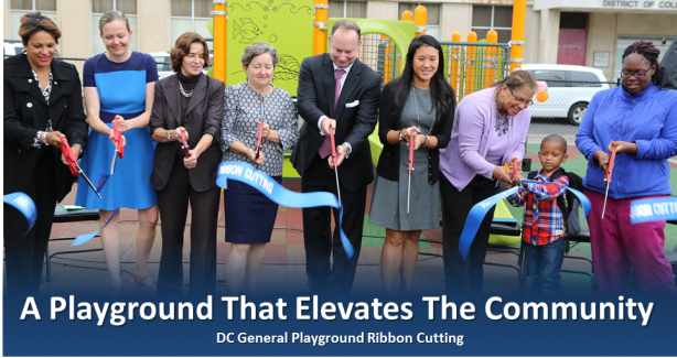 DC General Playground Ribbon Cutting Photo