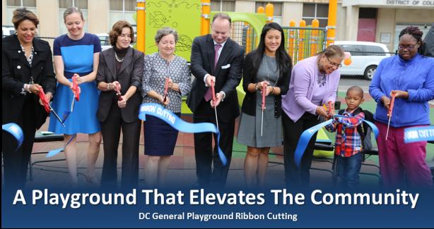 DC General Playground Ribbon Cutting Photo