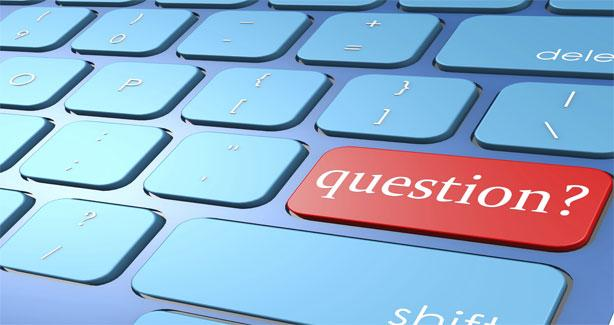 "Keyboard with a ""question"" key"