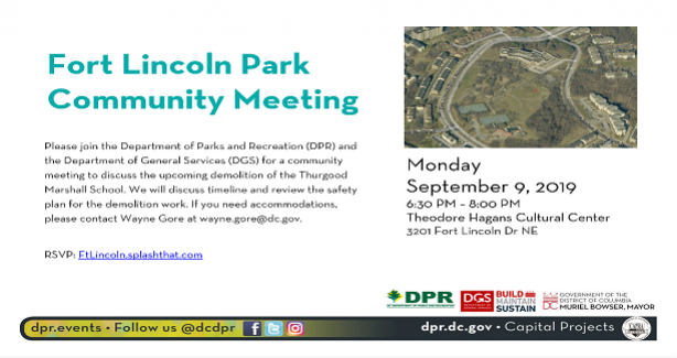 Fort Lincoln Park Community Meeting-September 9, 2019