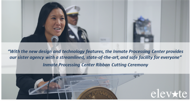 Inmate Processing Center Ribbon Cutting Carousel Graphic