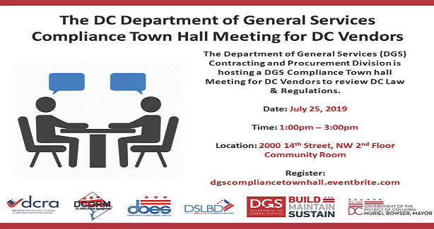 The DC Department of General Services Compliance Town Hall Meeting for DC Vendors