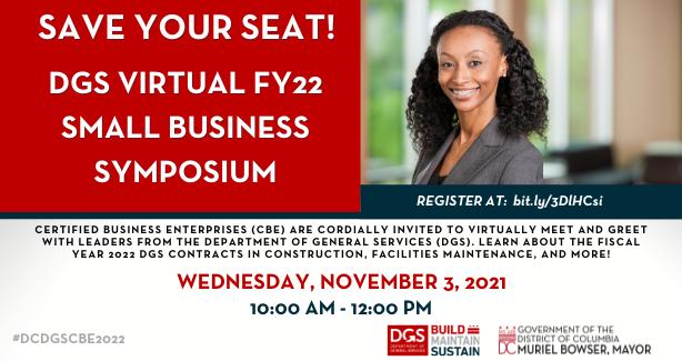 DGS Virtual FY22 Small Business Symposium