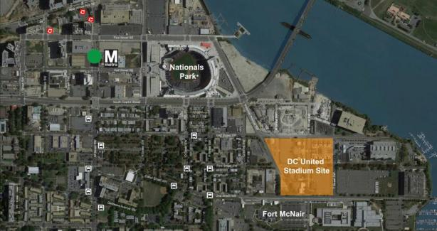 Arial View of Proposed Stadium Site