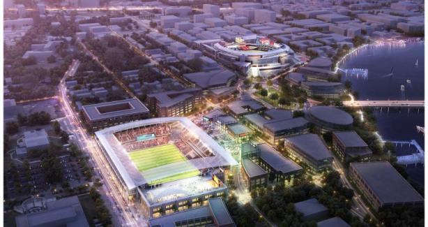 Arial View of Stadium Concept Design