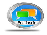 Two comment boxes with the over the word Feedback