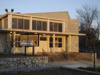 Front view of Johnson Middle School