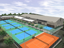 Southeast Tennis and Learning Center Project site rendering