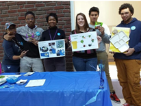 Cardozo staff and students from the Future Project helped DGS create and run an information table to discuss the new organics collection program with other Cardozo students and encourage student participation.