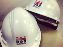 DGS Construction - two hard hats