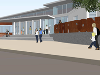Garrison Elementary School rendering of front door