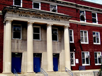 Kramer Middle School - building entrance