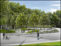 Legacy Memorial Park Project - Proposed Park View - Part II - Design Concept