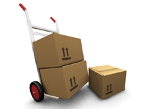 Agency Moves - boxes on hand truck