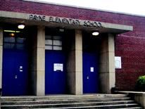 Payne Elementary School - front doors