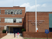 Plummer Elementary School - design rendering for new entrance
